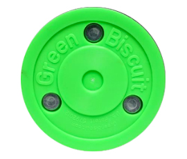 Original Green Biscuit Hockey Puck