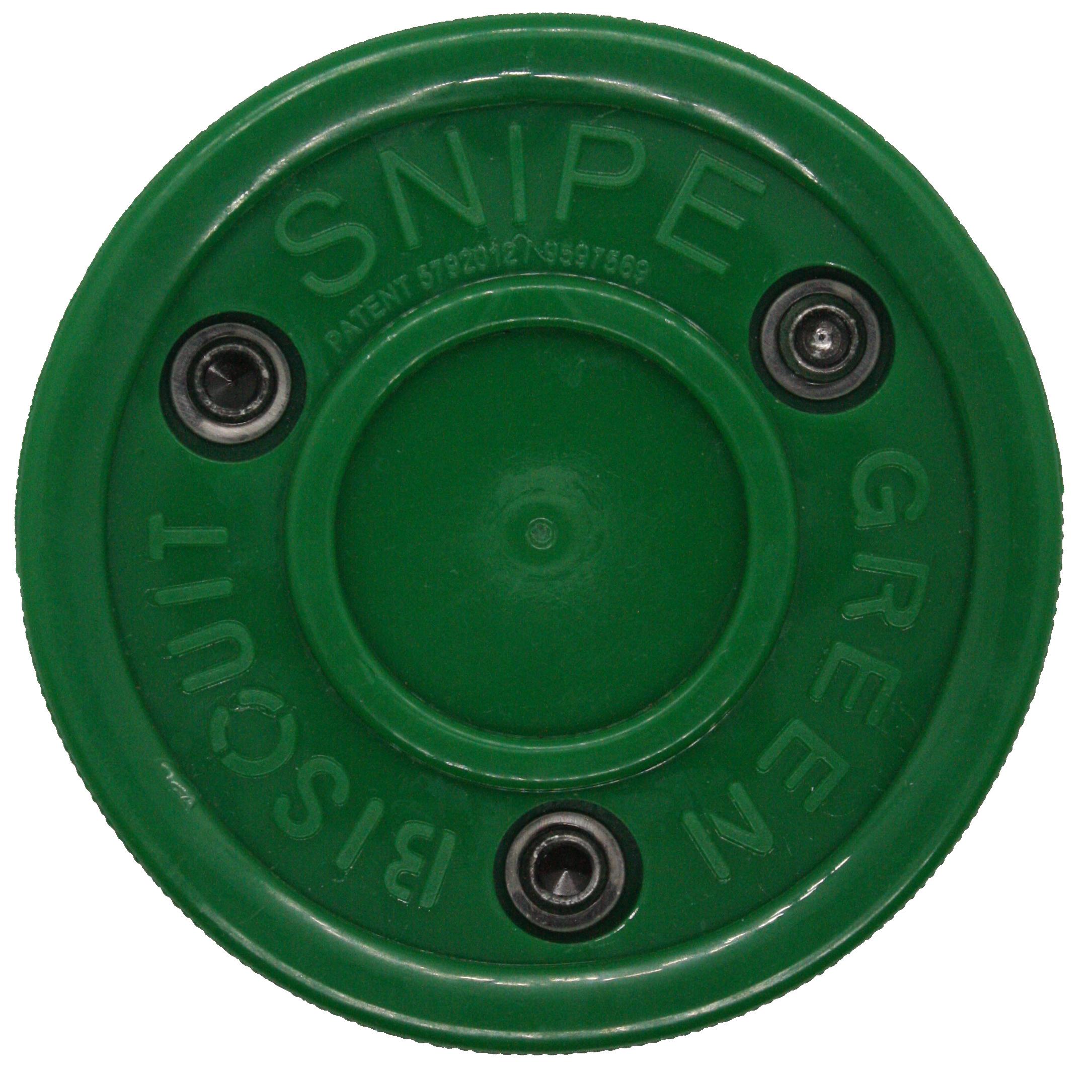 Green Biscuit Snipe Shooting Stick Handling Training Street Hockey Puck